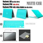 Frosted Matte Hardshell Case Keyboard Cover Screen Protector  For Apple MacBook