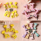 4pcs Giraffe Funny Wooden Badges Pins Kids Costumes Toy Party Supply Xmas Gift