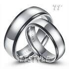 TT black Edged S. Steel Engagement Wedding Band Ring For Couple Size 6-11 NEW