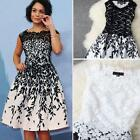 2015 NEW Sexy Women Sleeveless Embroidery Lace Cocktail Evening Party Dress DJNG