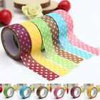 1X Dot Pattern Decorative Washi Tape Sticky DIY Stationery Adhesive Sticker