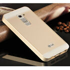 Luxury Metal Aluminum Bumper Skin Frame Case Cover   Plastic Back For LG G2