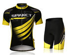 Spakct Cycling Suits Short Sleeve Short Jersey & Tights Pants Yellow Black
