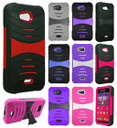 Kyocera Hydro Wave C6740 Hard Gel Rubber KICKSTAND Case Cover +Screen Protector