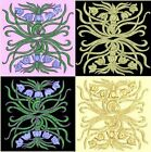 Anemone Quilt #3, Design 5-in 4 sizes-Anemone Quilt Designs & Embroidery Singles