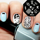 Nail Art Stamp Template Image Stamping Plates Cat Bowknot Heart Ball QA38