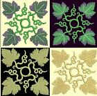 Anemone Quilt #6, Design 6-in 4 sizes-Anemone Quilt Designs & Embroidery Singles