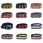 16mm Nylon Stripes Nato Cambo Watch Strap Wristwatch Bands Buckle Watchband