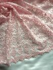 "Pink embroidered mesh netting-49"" wide. Sold/Priced by the yard"