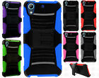 For HTC Desire 626 Hybrid Combo Holster KICKSTAND Rubber Case Cover Accessory