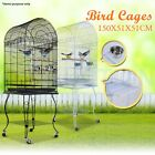 Pet Bird Cage Stainless Steel Parrot Stand Wheel Budgie Canary Aviary