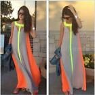 Women's Summer Long Maxi Dress Evening Cocktail Party Beach Chiffon Dresses DJNG