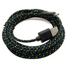 3/6/10FT Hemp Rope Micro USB Charger Charging Sync Data Cable For Mobile Phones