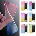 """Ultra Thin Ombre Silicone Gel Rubber Clear Case Cover For iPhone 6 4.7"""" Plus5.5"""""""