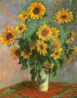 Vase with Sunflowers by Claude Monet Prints on Canvas Art Painting Reproduction