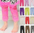 Rose Floral Thin Lace Leggings Pants Flower Print Casual Trousers Baby Girls 1PC