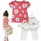 Flower Baby Girls Kids Top Shirt Dress Legging Pants Trousers Outfit Clothes Set