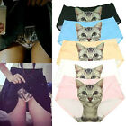 ADORABLE PUSSYCAT SEAMLESS PANTIES ANTI EMPTIED CAT PRINTING BRIEFS UNDERPANTS