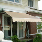 Manual Patio 8.2'×6.5' Retractable Deck Awning Sunshade Shelter Canopy Outdoor cheap
