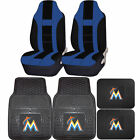 MLB Miami Marlins Rubber Front Rear Floor Mat Seat Cover Universal Set on Ebay