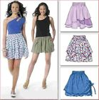 M-6327 Sewing Pattern Uncut Misses Pull-On Loose Fitting Skirts 3 Designs