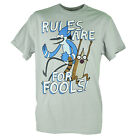 Cartoon Network Regular Show Rules Are For Fools Graphic Grey Tshirt Tee