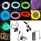 Glow Flexible Neon Light Glow EL Wire Rope Tube Car Dance Party + Controller