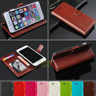 New PU Leather Wallet Stand Cover Shockproof Case for Apple iPhone 6s 6s Plus 5S