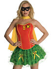 Sexy Womens Robin Batman Corset, Skirt Adult Halloween Costume Outfit Set XS-L