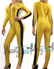 Yellow Kill Bill Bruce Lee Game of Death Jumpsuit,Bodysuit,Unitard Costume S-3XL