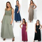 Women Boho Maxi Dress Gown Soft Cotton Long Pleated Flared Gypsy Summer Festival