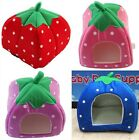 Hotsale Cute Strawberry Pet Dog Puppy Cat Bed House Kennel Cushion Basket Beds S
