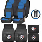 Synthetic Leather Seat Covers Set MLB Toronto Blue Jays Rubber Mat Universal on Ebay