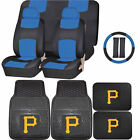 Synthetic Leather Seat Covers Set MLB Pittsburgh Pirates Rubber Mat Universal on Ebay