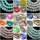 Bulk 100-1000Ps Crystal Beads Faceted Rondelle Beads 4mm Spacer Jewelry Findings
