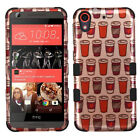 For HTC Desire 626 IMPACT TUFF HYBRID Protector Case Skin Cover + Screen Guard