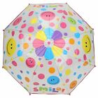 Drizzles Childrens Clear Dome Umbrella with Smiley Face Design