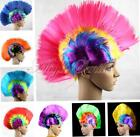 Rainbow Mohawk Hair Wig Masquerade Party Christmas Fancy Dress Halloween Costume