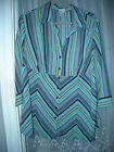 18W 20W GREEN STRIPPED BLOUSE 3/4 SLEEVES  GIORGIO FIORLINE PLUS COLLECTION