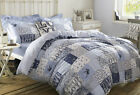 Blue Patchwork Bedlinen by Emma Bridgewater. Free UK,EU, USA, Australia Delivery