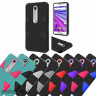For Motorola Hybrid Dynamic Case Hard Silicone Cover