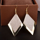 Simple Earrings Frosted Retro Fashion Jewerly Accessories Rhombus Exquisite Hot