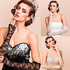 Elegant Bride Bridal Long Lace Gloves Opera Evening Party Prom Wedding Costume