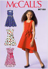 McCall's 7180 Sewing Pattern to MAKE Cute Girls' Dresses Age 3-6 & Age 7-14