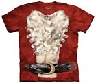 The Mountain Brand Santa Claus Suit Beard Ugly Christmas Sweater T-Shirt Red