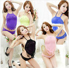 Hot selling newest fashion halter straps lace mesh stockings Siamese clothes new