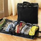 New Portable Travel Non-woven Folding Shoes Storage Organizer Bag Black/Red - CB
