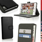 PU Leather Wallet Case for Sony Xperia M4 Aqua Flip Stand Cover + Screen Prot