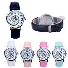 New Arrival Women Watch Swirl Pattern Leather Analog Quartz Wrist Watch