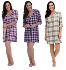 Ladies Check Design Cotton Nightshirt / Nightdress ~ 8 - 18